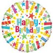 Happy birthday balloon with candles